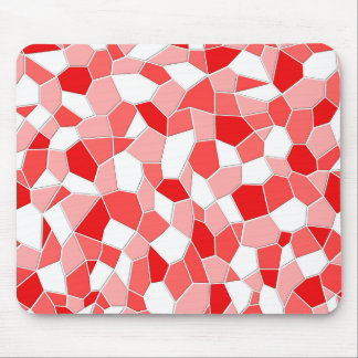 Cojín de ratón - sombras del mosaico rojo 3D Tapetes De Raton