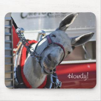 Cojín de ratón sonriente de la mula Howdy Tapete De Ratón