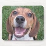 Cojín de ratón sonriente del beagle tapetes de ratón