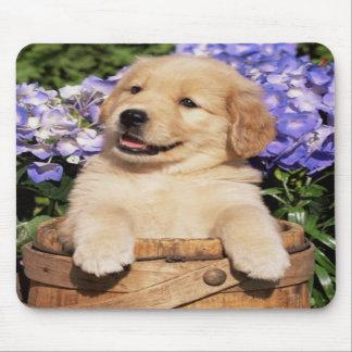 Cojín de ratón sonriente del perro de perrito del  tapete de ratón