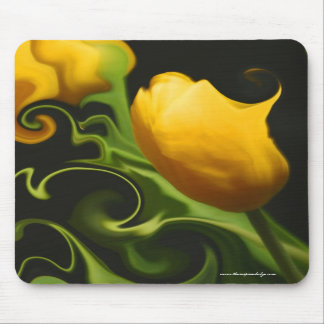 Cojín de ratón surrealista de la naturaleza amaril tapete de ratón