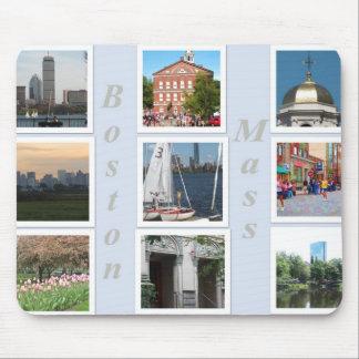 Cojín de ratón total del collage de Boston Alfombrilla De Raton