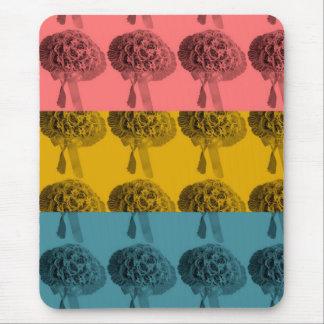Cojín de ratón tricolor de la flor tapete de raton