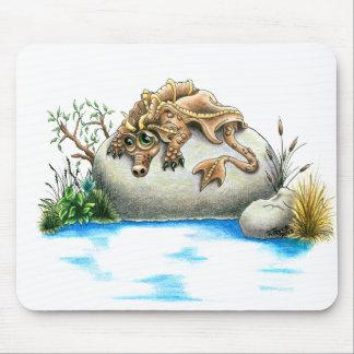 Cojín de ratón triste del dragón de la pequeña roc tapete de ratón