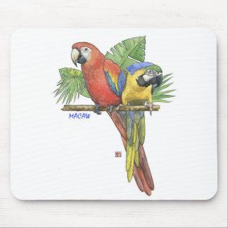 Cojín de ratón tropical de los Macaws Tapete De Raton