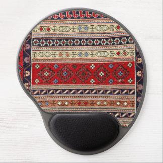 Cojín de ratón turco rojo del diseño de la manta alfombrilla de raton con gel