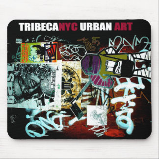 Cojín de ratón urbano del arte de Tribeca NYC Mouse Pad