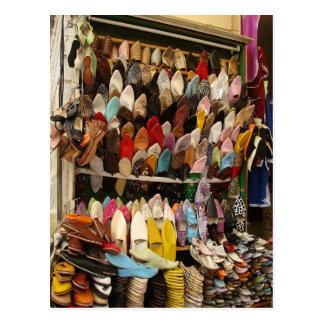 Cojín de ratón - vendedor Tánger Kasbah del zapato Tarjeta Postal