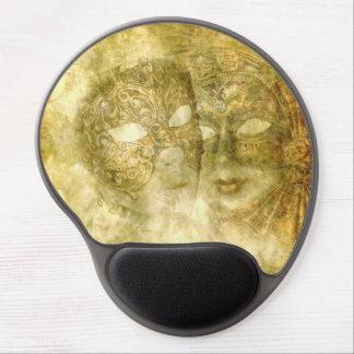 Cojín de ratón veneciano del gel de las máscaras alfombrilla de raton con gel