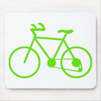 Cojín de ratón verde de la bicicleta creado para r tapete de raton