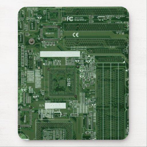 cojín de ratón verde de la placa de circuito alfombrilla de ratones