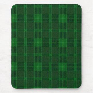 Cojín de ratón verde de la tela escocesa alfombrilla de ratones