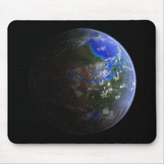 Cojín de ratón verde de Marte Tapete De Raton