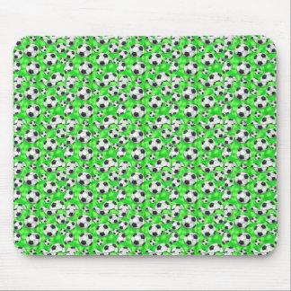 Cojín de ratón verde de neón del fútbol tapetes de ratones