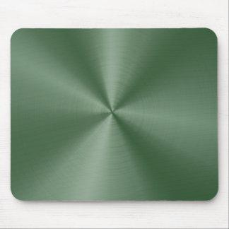 Cojín de ratón verde del acero inoxidable de Dee Tapetes De Raton