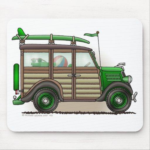 Cojín de ratón verde del carro de Woody Alfombrilla De Ratones