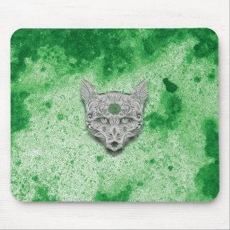 Cojín de ratón verde del cráneo del azúcar del mousepads