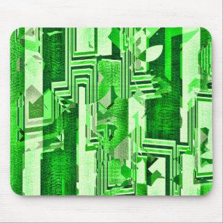 Cojín de ratón verde geométrico del modelo de los alfombrilla de ratones