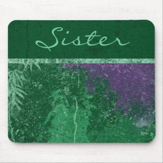 """Cojín de ratón verde tóxico de la """"hermana"""" de mouse pads"""