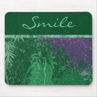 """Cojín de ratón verde tóxico de la """"sonrisa"""" de Ava Alfombrillas De Raton"""