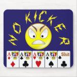 Cojín de ratón video del póker alfombrillas de ratones