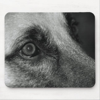 Cojín de ratón vigilante del ojo del pastor alemán tapete de ratón