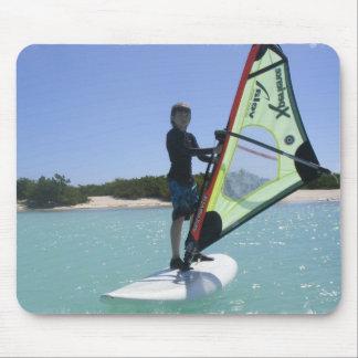 Cojín de ratón Windsurfing de las lecciones Tapete De Raton