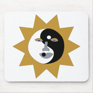 cojín de ratón ying del sol de yang alfombrillas de ratones