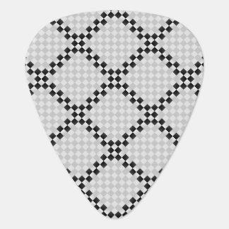Cojín del ajedrez plumilla de guitarra