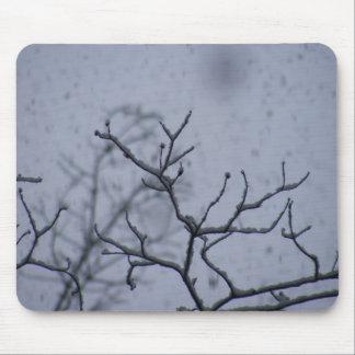 cojín del árbol de la nieve alfombrillas de ratón