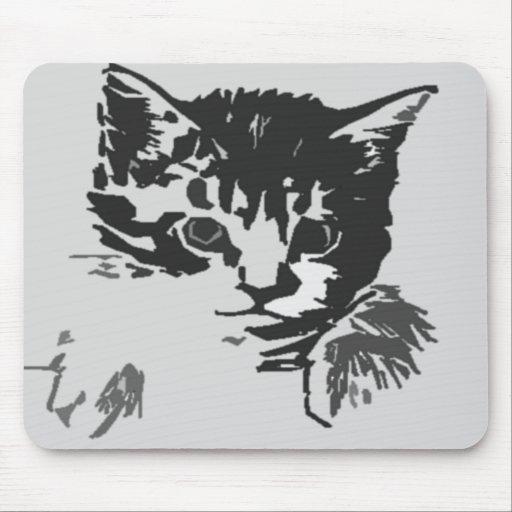 cojín del gato tapetes de raton