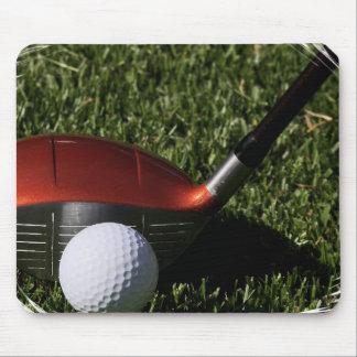 Cojín del hierro del golf y de ratón de la bola alfombrillas de ratón