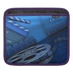 cojín del iPad - rollo de película azul Funda Para iPads