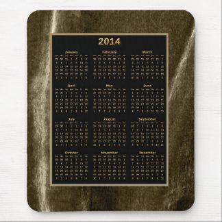 Cojín del oro y de ratón del calendario de la sepi tapete de ratones