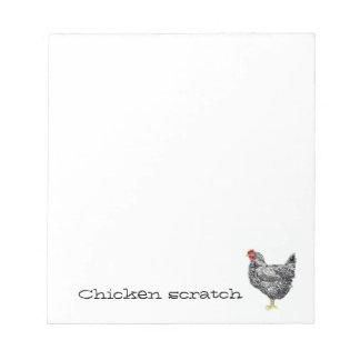 Cojín del papel de rasguño del pollo blocs de papel