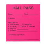 Cojín del paso de pasillo (rosa del neón) libreta para notas
