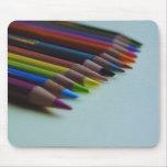 Cojín del ratón del lápiz coloreado tapetes de ratones