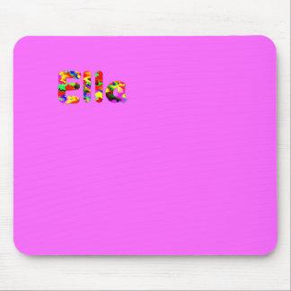 Cojín del ratón rosado de Ella Alfombrillas De Ratón