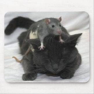 Cojín del ratón y de ratón del gato alfombrillas de ratón