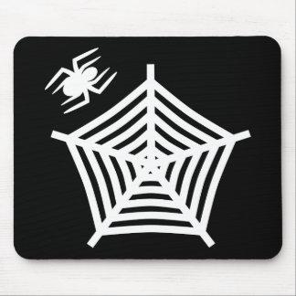 Cojín espeluznante de la araña y de ratón del Web Alfombrilla De Ratones
