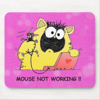 Cojín hilarante del gato y de ratón, dibujo animad tapetes de raton