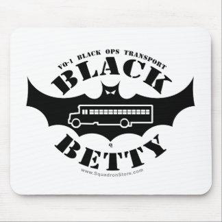 Cojín negro de Betty para los ratones Alfombrillas De Ratón