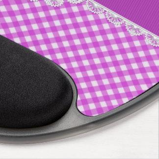 Cojín púrpura y blanco del monograma de Chex del g