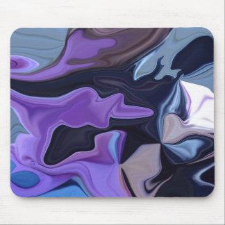 Cojín púrpura y negro del reflejo del terciopelo alfombrilla de ratón