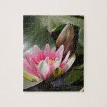 Cojín y flor de lirio puzzles con fotos