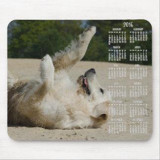 Cojines 2016 de ratón del calendario del golden alfombrillas de ratones