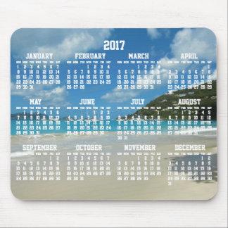 Cojines 2017 de ratón anuales del calendario de la mouse pad