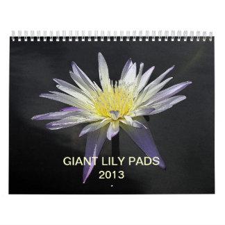 Cojines de lirio gigantes 2013 calendario