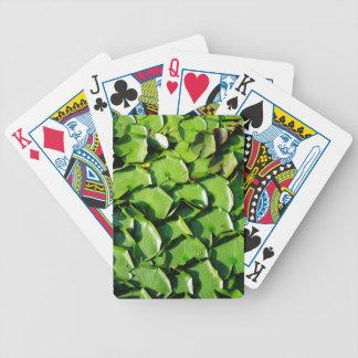 cojines de lirio verdes sólidos cartas de juego