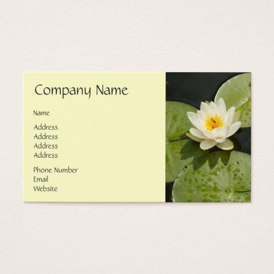 Cojines de lirio y flor de Lotus blanco Tarjetas De Visita